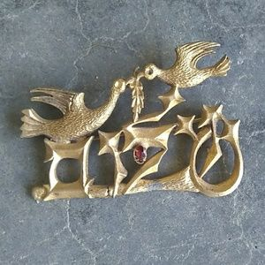 Vintage Chaim Gross Peace Brooch